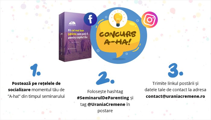 Regulament concurs A-ha! Seminarul de Parenting